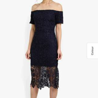 Zalora off shoulder lace dress