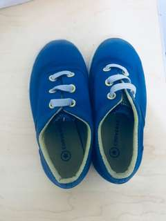 Converse blue shoes