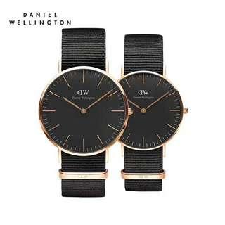 Daniel Wellington Classic Black Couple watch 40mm&36mm black Cornwall