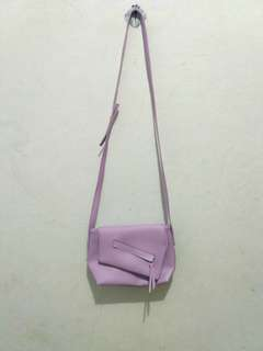 Soft purple bag