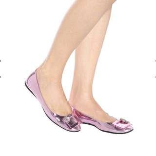 New Roger Vivier Sz37 Pink Flats org7800