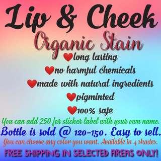 E & J Lip and Cheek Organic Tint