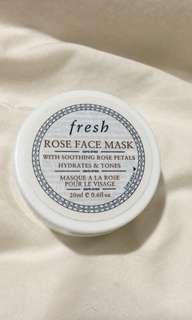 Fresh rose face mask 20ml (NEW)