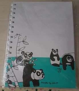 Panda Spiral Binded Notebook
