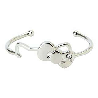日本超可愛純銀kitty頭型手環