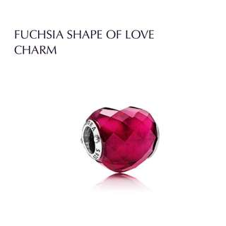 BNIS pandora FUCHSIA SHAPE OF LOVE CHARM