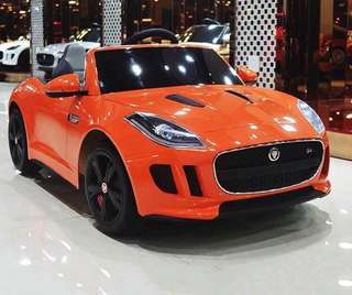 Orange Licensed Jaguar Sports Car Rechargeable Ride On Car
