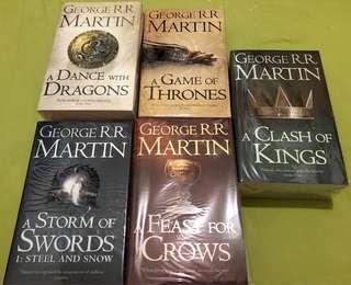 權力的遊戲 冰與火之歌 英文版 書 5 本 Game of thrones: A song of ice and fire