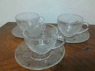 tea set cangkir teh kristal istimewa