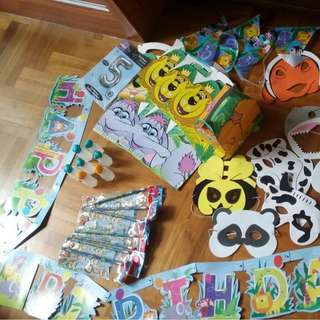 animal birthday party decorations/gifts