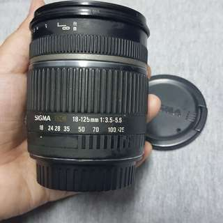 Sigma 18-125mm f3.5-5.6 zoom lens for Canon mount