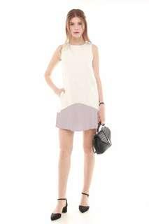 ACW colourblock pleated pocket dress
