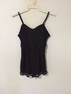 black lace romper