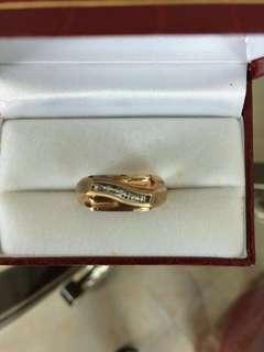 Men Women Unisex Gold Diamond Ring 10K