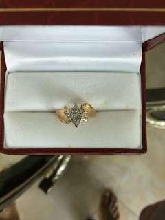 Women Diamond Gold Ring 10K