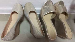 Ladies Shoes wedges with price tag on