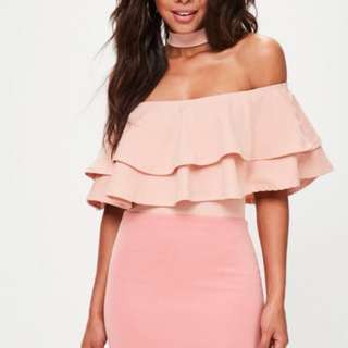 BN Miss Selfridge Boho Pink Choker Top