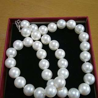 🚚 日本購買天然大顆珍珠項鍊