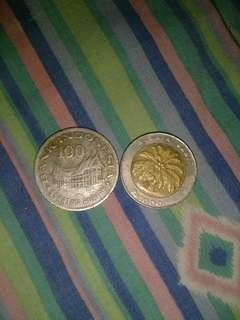 Koin lama 1000 dan 100