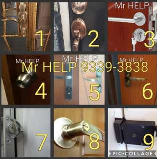 Locksmith Services Main door lock gate lock room lock letterbox grillelock  call :93393838