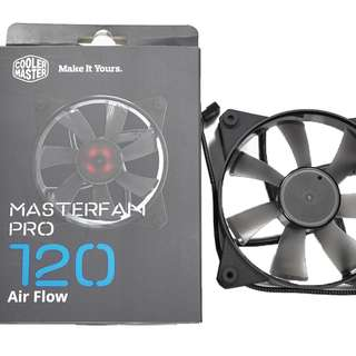 Cooler Master MasterFan Pro 120 Air Pressure - BEST 120mm Static Pressure Black Case Fan, Computer Cases CPU Coolers and Radiators