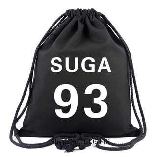 (Instock) Suga bts drawstring bag