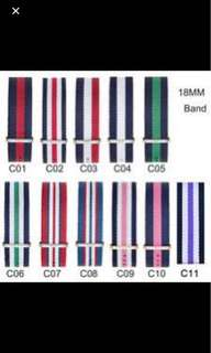 Daniel Wellington NATO strap 18mm  matches to 36mm watch