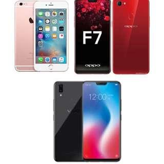 IPHONE 6S PLUS, VIVO V9, OPPO F7