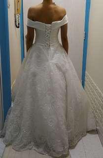 Wedding Dress 一字肩婚紗