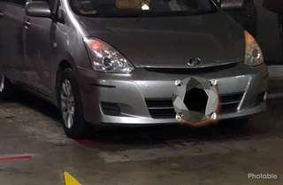 Toyota Wish sunshade magnet