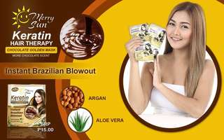🌞KERATIN HAIR THERAPY CHOCOLATE GOLDEN MASK