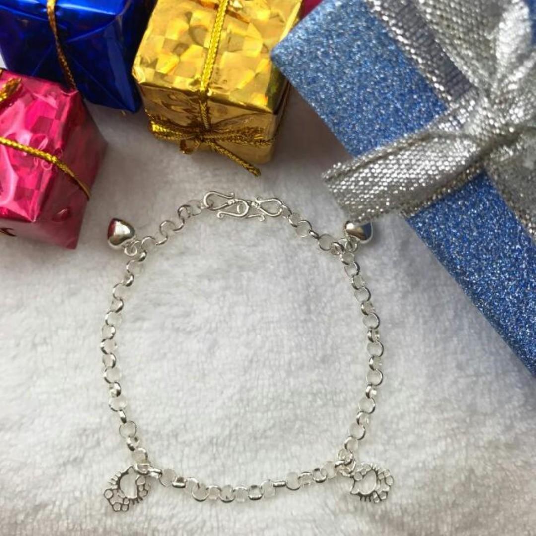 978d9e358 925 Silver Hello Kitty Baby Anklet/ Bracelet, Babies & Kids, Babies ...