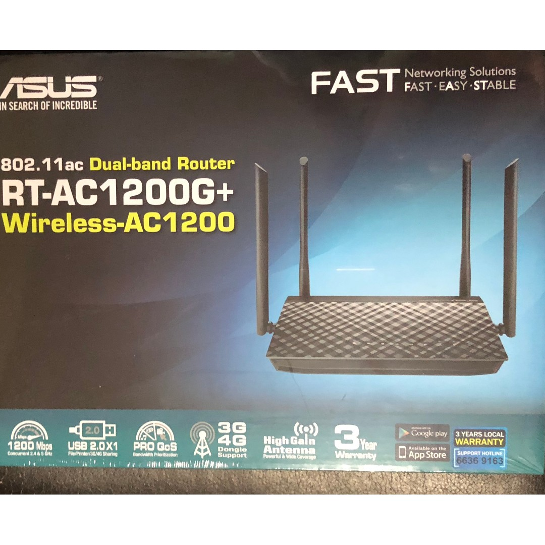 ASUS RT-AC1200G PLUS GIGABIT ROUTER - BRAND NEW, Electronics