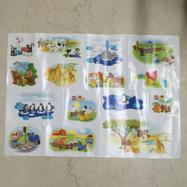 Bn Original Big Lego Duplo Stickers For Wall Or Tile
