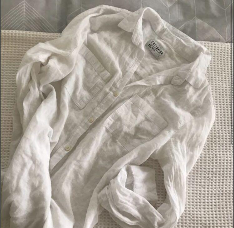 Button up white shirt