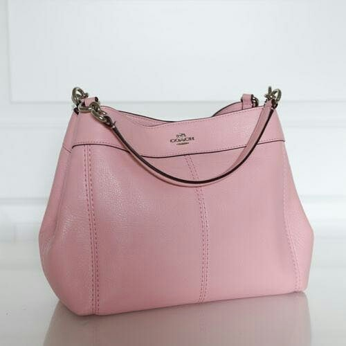 Coach Small Lexy Shoulder Bag in Pebble Leather  F23537 (Blush) sz  27-34x23x10 f9168330baa2f