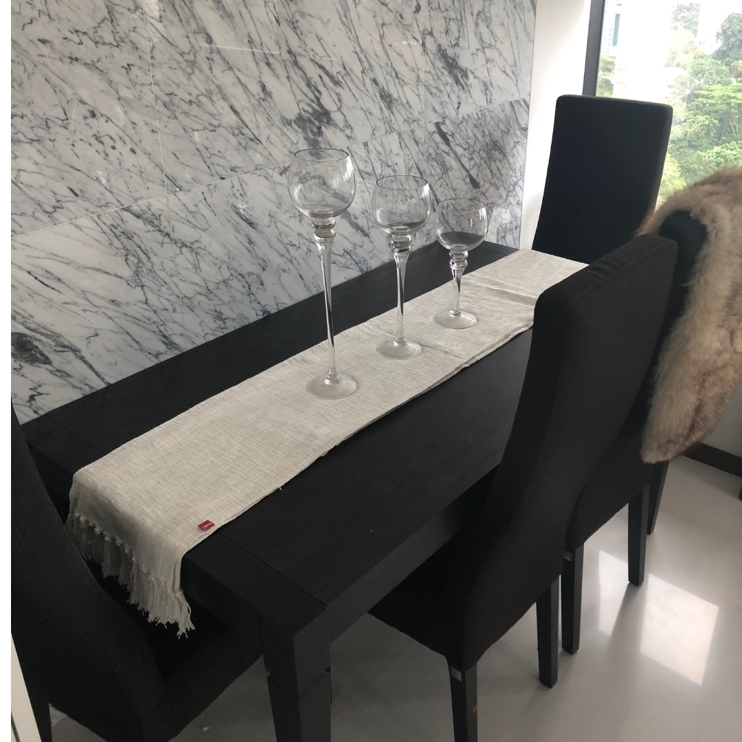 Dining Table 4 Chairs Luxury Furniture From Dubai