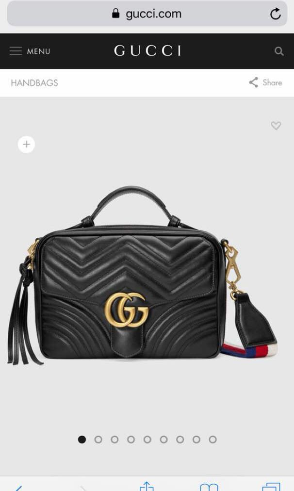 fa3ae0e768e1 Gucci GG Marmont small shoulder bag, Luxury, Bags & Wallets on Carousell