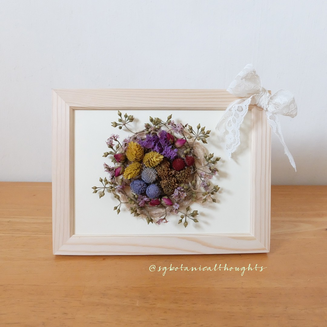 Handmade Dried Flowers Photo Frame/ Decor, Furniture, Home Decor on Carousell