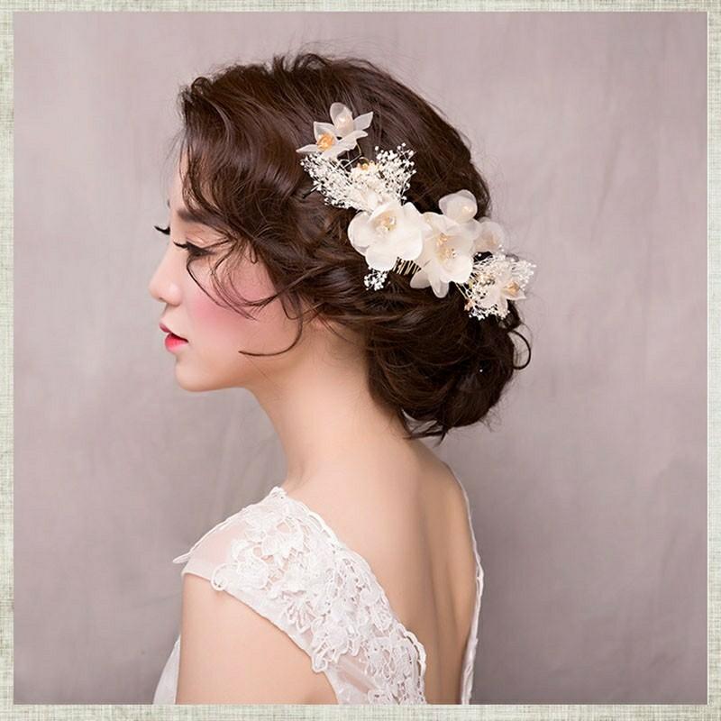 Headpiece Hairpiece flower aksesoris hiasan rambut pesta pengantin