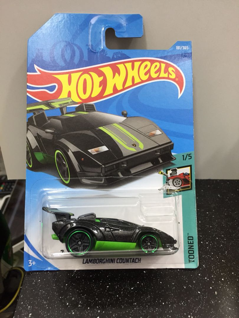 hotwheels lamborghini countach (tooned), toys & games, others on