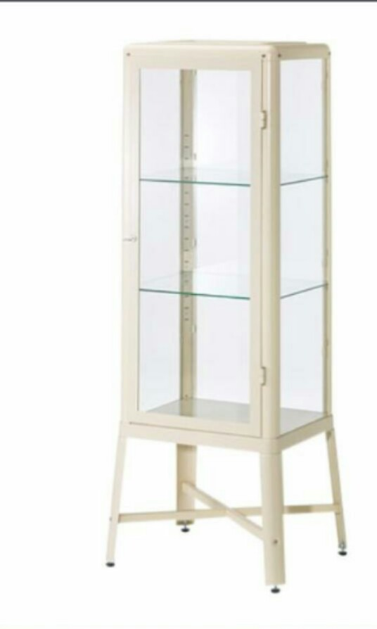 Ikea Fabrikor Display Cabinet All Glass Shelf Furniture Shelves Drawers On Carou