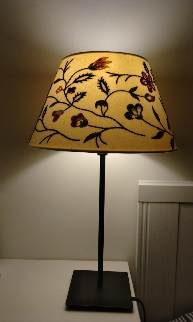 Flower Embroidery Decor Lamp Head, Rose Gold Floor Lamp Ikea