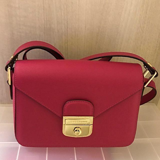 4ff2628eca Long Champ Pink Sac Porte Travers F Cyclamen, Luxury, Bags & Wallets ...