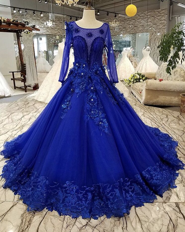 Midnight Blue Evening Gown, Babies & Kids, Girls\' Apparel on Carousell