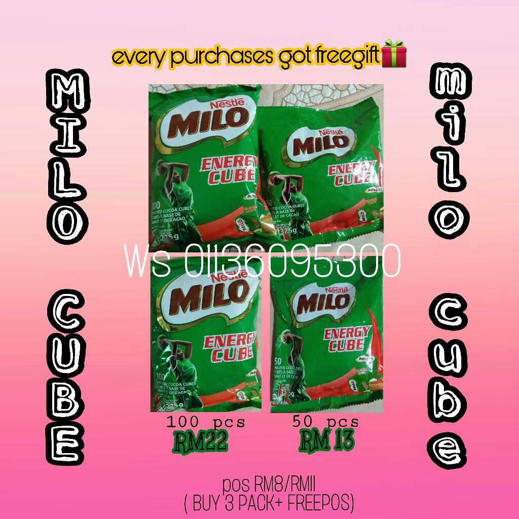 Milo Energy Cube Food Drinks Packaged Snacks On Carousell 2 Pack