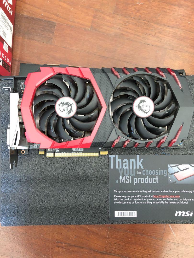 MSI RX580 Gaming X 8GB