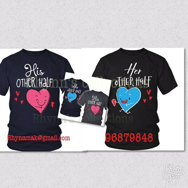 Couple Shirt Design   New Couple T Shirt Design Diy Customise Bulletin Board Preorders