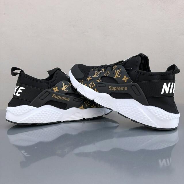 Nike Huarache LV Supreme Black White Gold., SIZE 41,45