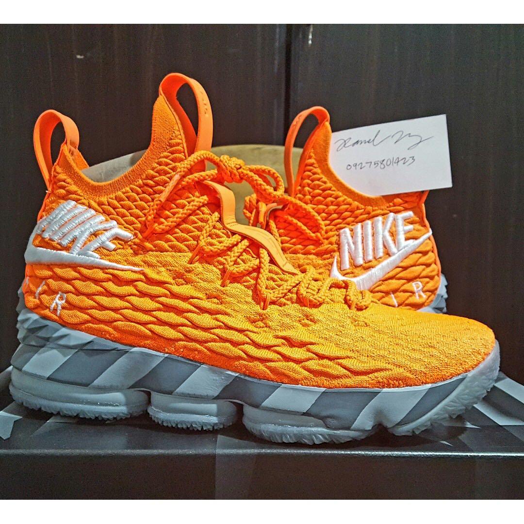 462ad200020 Nike Lebron XV 15 Orange Box Mens US size 8.5 kobe jordan kyrie bred ...